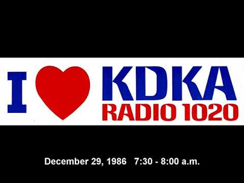 1020 KDKA Pittsburgh 1986 morning show.