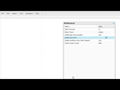Enable Query Plan in Salesforce Developer Console