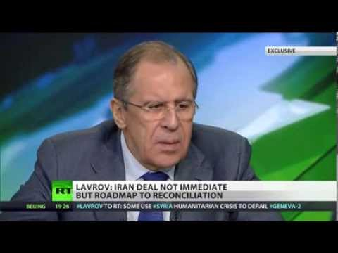 Russian Foreign Minister Sergey Lavrov  interview to TV channel RT