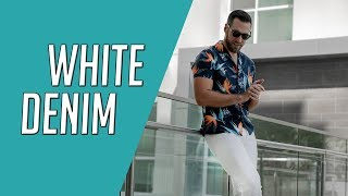 6 Ways To Style White Denim || How to Wear White Jeans || Gent's Lounge Lookbook