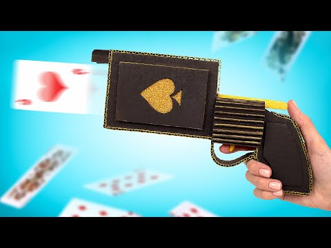 How To Make a Card Blaster From Cardboard ♥️♠️