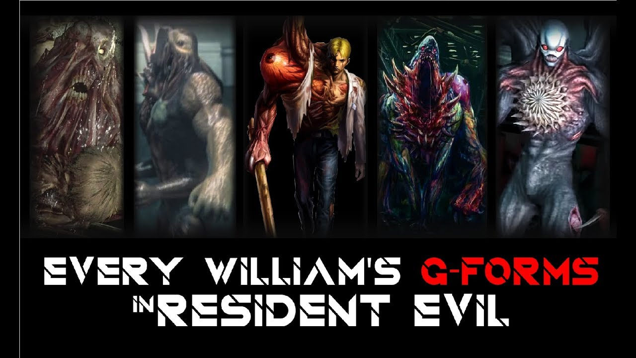 Every William Birkin S G Forms In Resident Evil Game Boss Battle