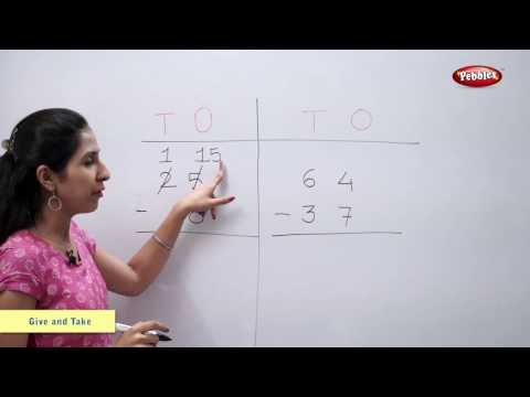 Subtraction With Borrowing | Subtract | Maths For Class 2 | Maths Basics For CBSE Children