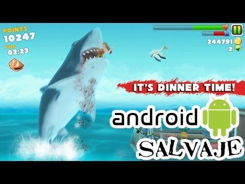 Hungry Shark Evolution: Se tu el tiburón Gameplay Android --Audio Español Androidsalvaje