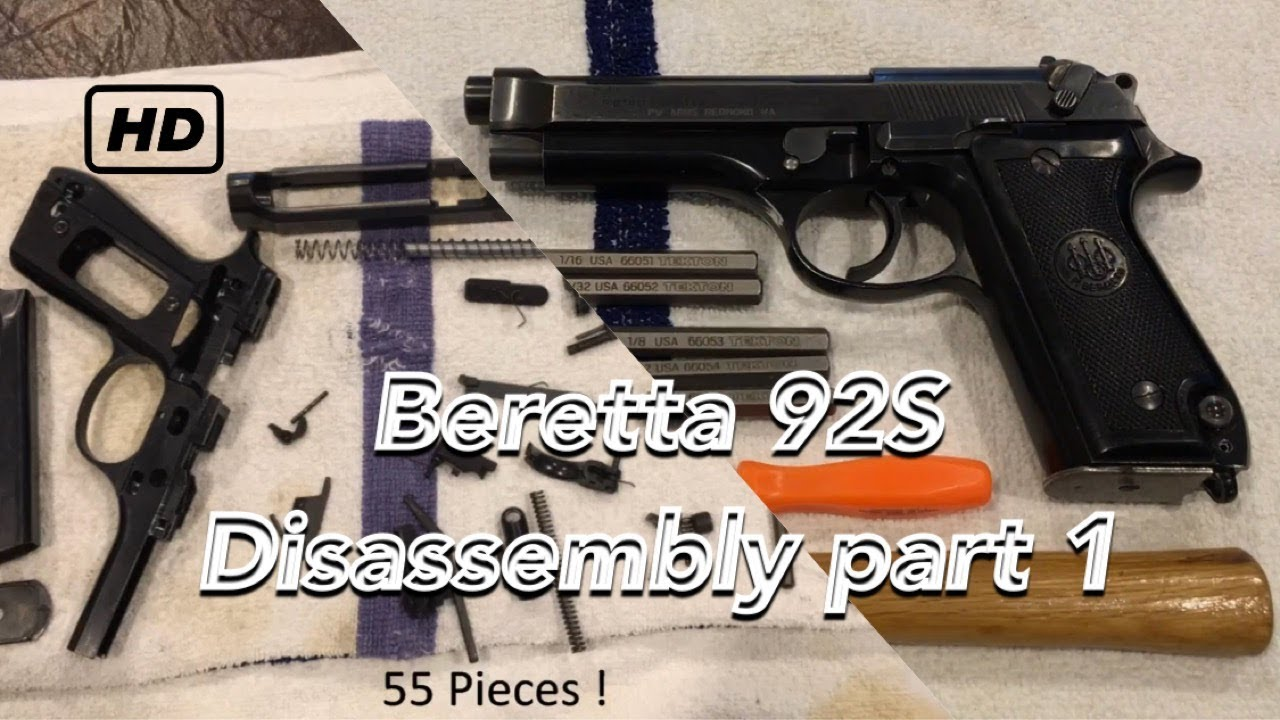 Beretta 92S Police Pistol Complete Disassembly