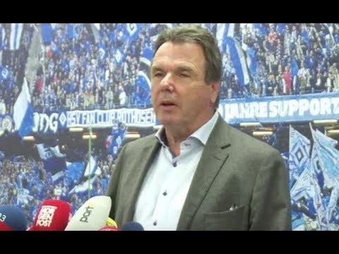 HSV-Boss Bruchhagen vor dem Spiel auf Schalke
