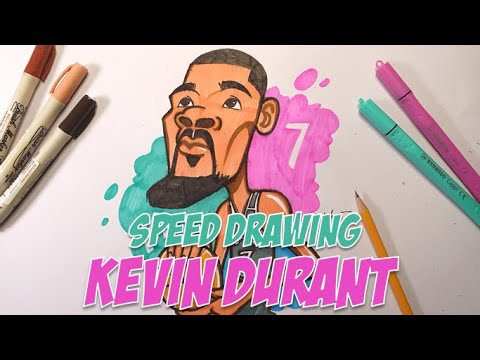 KD The Brooklyn! - Drawing Durant With Color Pens #Durant #SpeedDrawing #Nets #Brooklyn #GSW