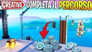 COMPLETE the COURSE to WIN 1000 V-BUCKS (MINI GAME) | CREATIVE MODE | FORTNITE ITA |