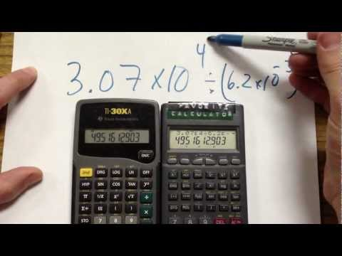 Calculators with Scientific Notation