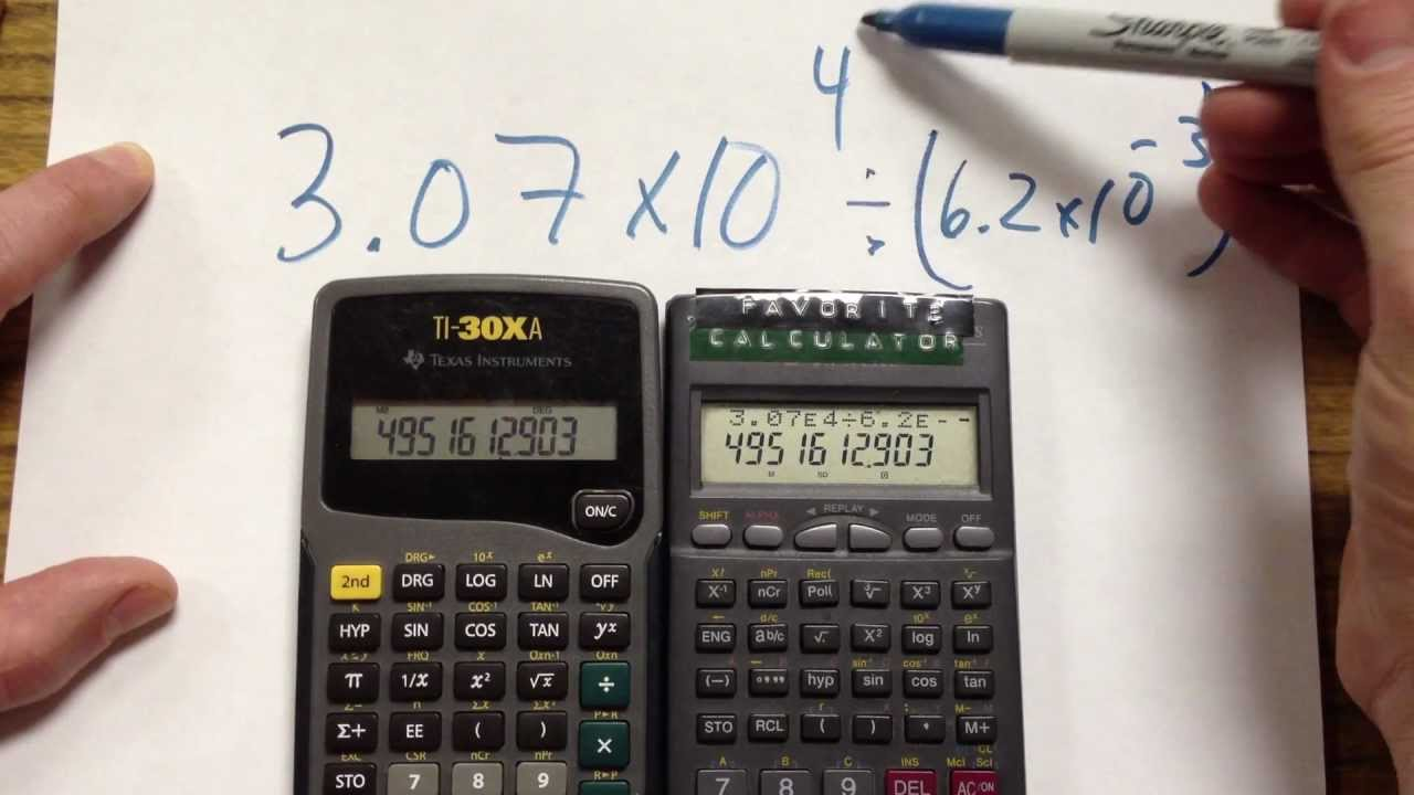 Calculators with Scientific Notation - YouTube