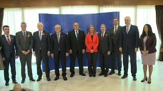 From youtube.com: Jean-Claude Juncker warns Balkan leaders to stop corruption if they want to join EU {MID-341738}