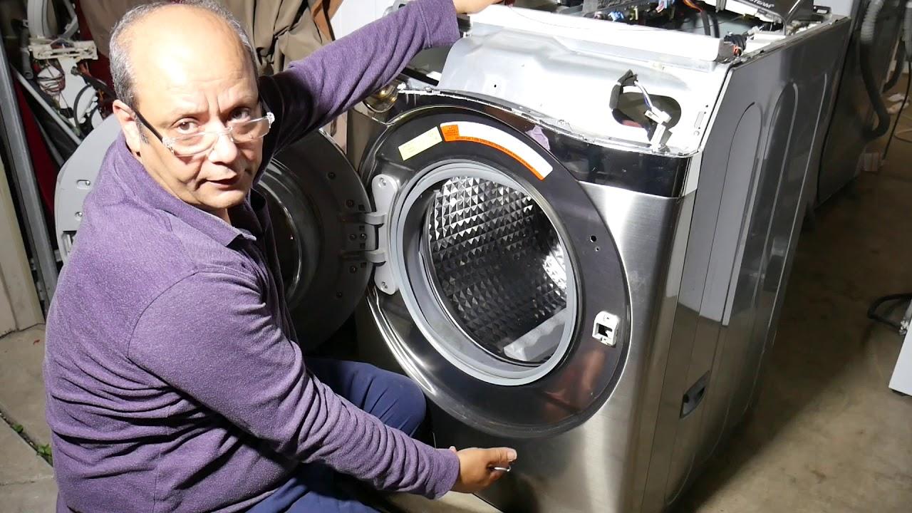 Washer front door leaking ll / كيفية تغيير جوان باب الغساله الامامى