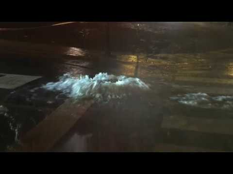 Tromba de agua sobre Lugo