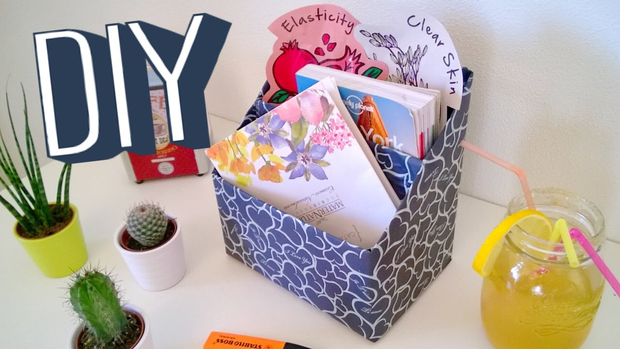 Diy Cereal Box Organizer Crafts Projects Youtube