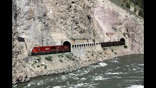 Canadian Pacific & Canadian National trains - Lytton to Spences Bridge - June 2013