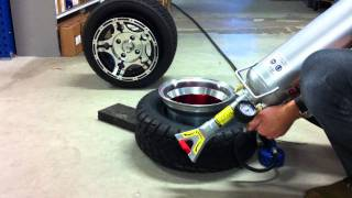 Quad tire bead seating with maximum ease