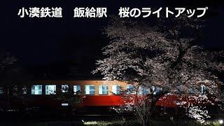 Kominato Railway Station ITABU 桜のライトアップ 小湊鉄道 飯給駅 16時~18時30分迄の間撮影しました