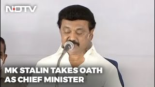 MK Stalin Swearing-in: DMK Chief MK Stalin Takes Oath As Tamil Nadu Chief Minister