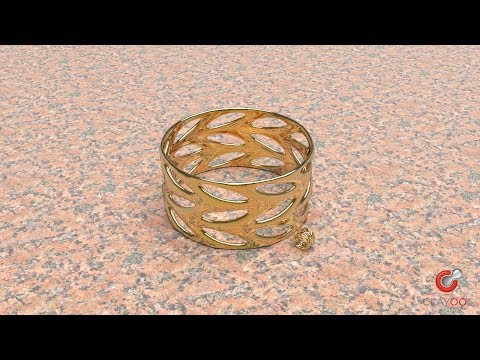 Step-by-step video showing how to design a simple ring and bracelet with Clayoo components for Grasshopper inside RhinoGold.