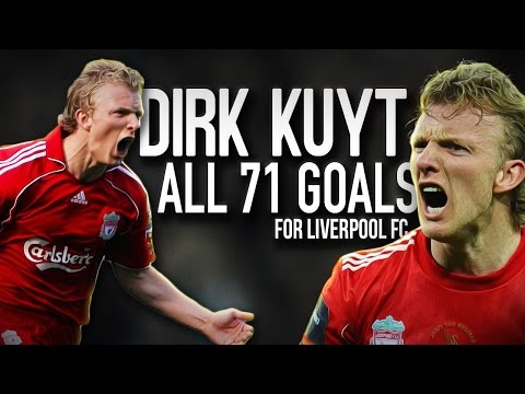 Dirk Kuyt - All 71 Goals for Liverpool FC - English Commentary - 2007/2012