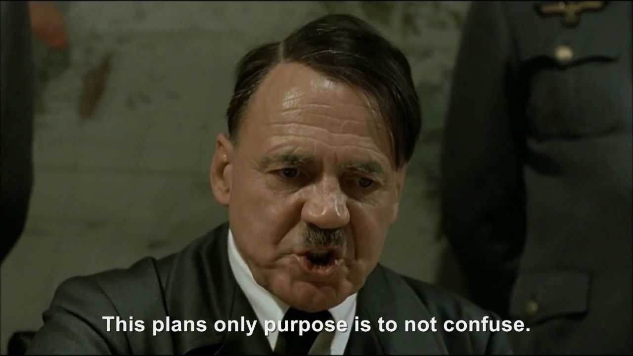 Hitler plans a confusing plan