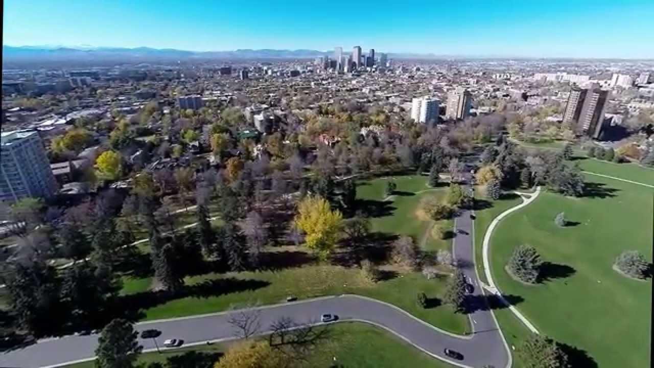 Cheesman Park Neighborhood by Air, Denver CO - YouTube