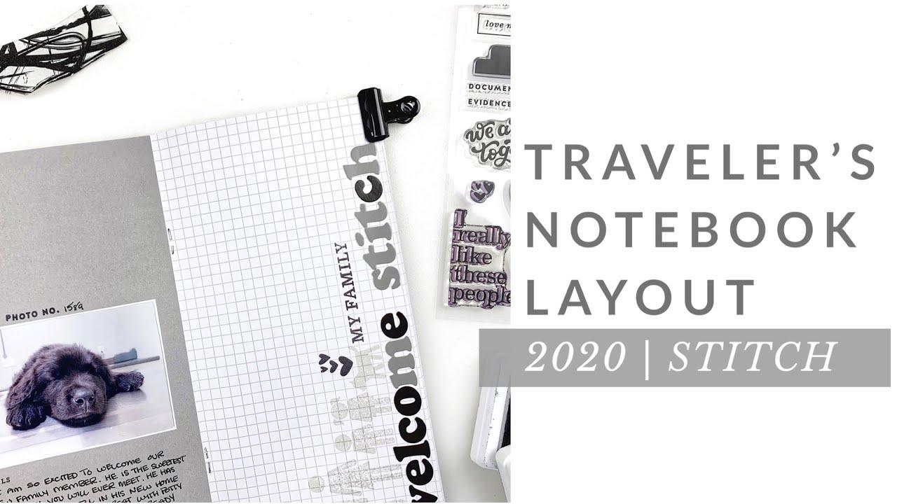 Traveler's Notebook Layout 2020 | Studio Calico DT Sunset Bay Kit