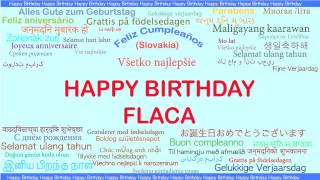 Flaca   Languages Idiomas - Happy Birthday