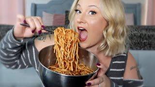 SPAGHETTI MUKBANG | EATING SHO…