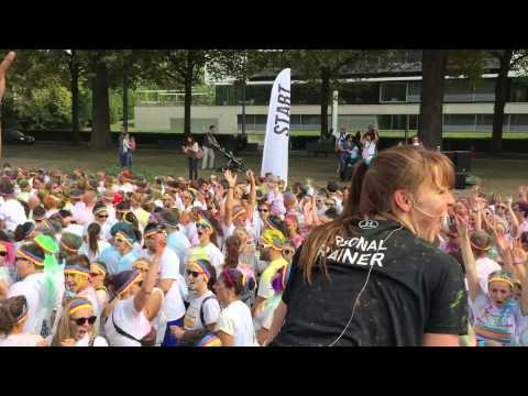 Echauffement The Color Run Lausanne & Silhouette Sports Club