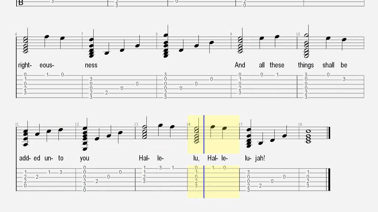 Easy chord melody guitar