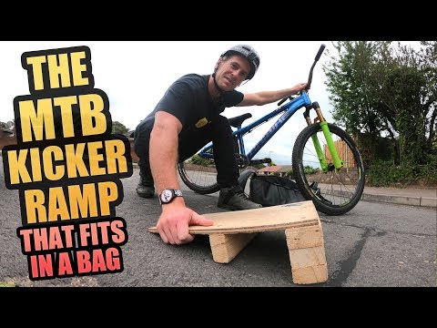 THE MTB KICKER RAMP THAT FITS IN A BAG - TRICKS AND CRASHES!