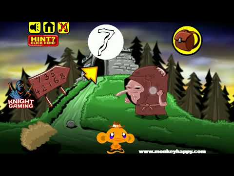 Monkey Go Happy Stage 37 Gameplay Walkthrough Solution How To Solve? Answer #37