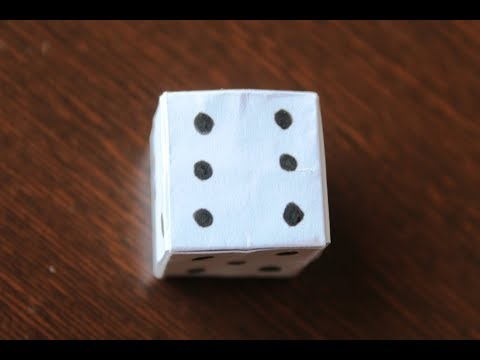 DIY - How to Make a Paper DICE | Step by step Instructions