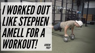 I did Stephen Amell's Arrow Prep Workout ( I couldn't do it all )