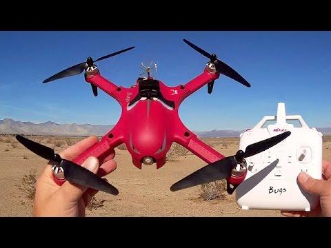 Red MJX Bugs 3 FPV Sport Drone Flight Test Review
