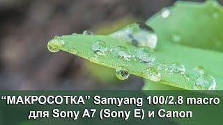 видео Обзор макрообъектива Samsung NX 60mm f/2.8 ED OIS SSA