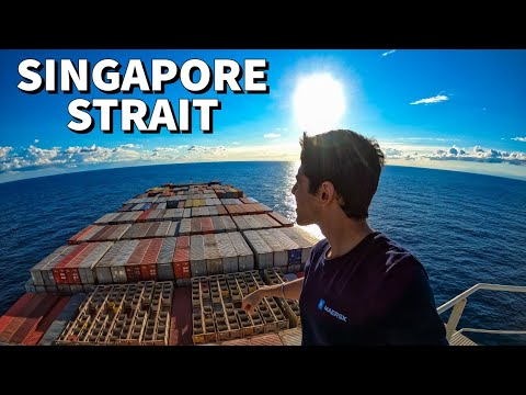 Singapore Strait Captured From A Mega Ship | Never Seen Before