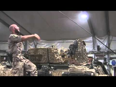 Swedish Marines making parody of Grease lightning in Afghanistan