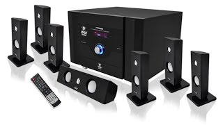 Pyle PT798SBA 7.1 Channel Home Theater System With Satellite Speakers, Center Channel, Subwoofer