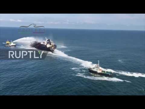 Mexico: Huge blaze breaks out on Pemex oil tanker in Gulf of Mexico