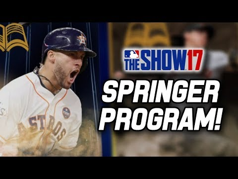 Continuing the George Springer Postseason Program Grind! | MLB The Show 17 Diamond Dynasty