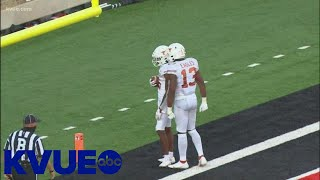 Texas Longhorns WR Josh Moore catches 3 TDs against Texas Tech | KVUE