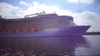 en traversant le plus grand navire à passagers dans le monde mai 2015