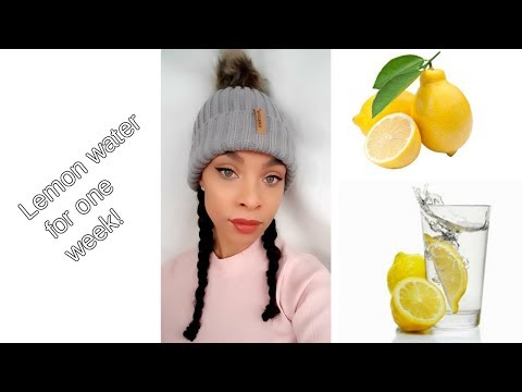 Drinking 2 litres of lemon water a day for acne| What happened after one week?