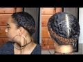 FRENCH BRAIDS PROTECTIVE STYLE ON NATURAL HAIR