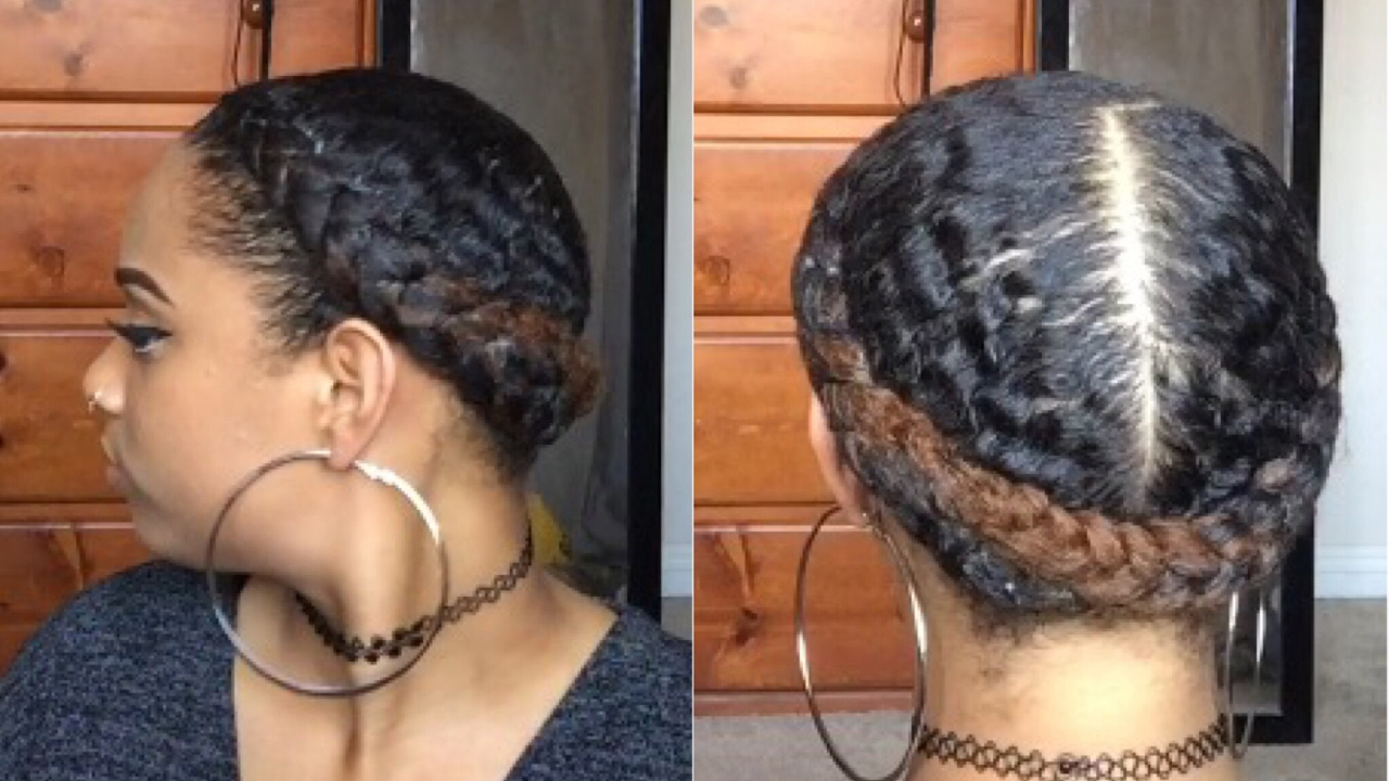 French Braids Protective Style On Natural Hair Youtube