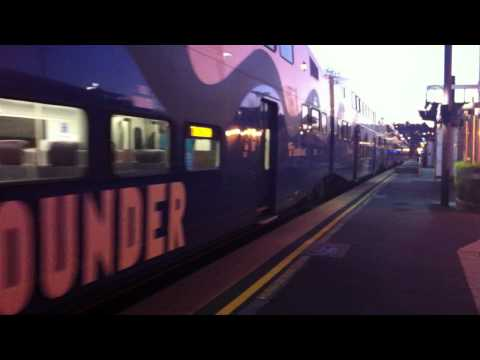 Sounder Commuter Rail arriving Tacoma Dome Station
