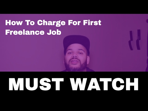 how to charge for first freelance job as  junior developer