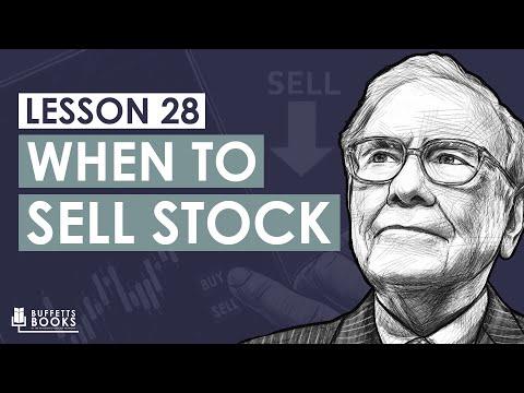 28. When to sell stock like Warren Buffett